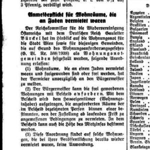 Anmeldepflicht 1939