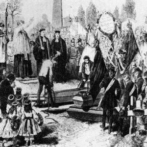 Das aufständische Wien begräbt seine gefallenen Revolutionäre